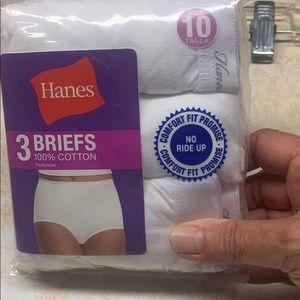 🔥7/20🔥 Hanes Cotton Briefs Sz 10 NIP